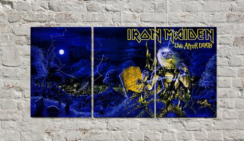 Cuadros - Triptico Iron Maiden Live After Death