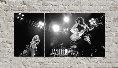 Cuadros - Triptico Led Zeppelin Jimmy Page y Robert Plant