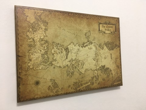 Cuadro Gigante Mapa Game of Thrones B - comprar online