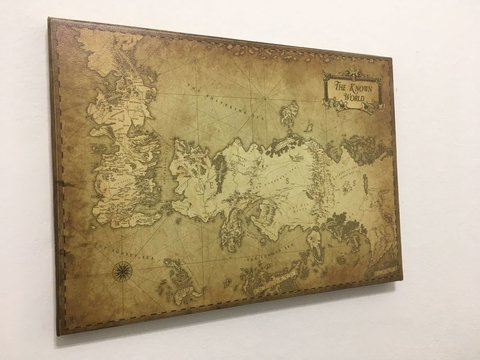 OFERTA - Cuadro Gigante Mapa Game of Thrones B - comprar online