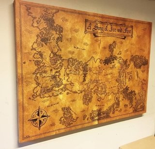 OFERTA - Cuadro Gigante Mapa Game of Thrones - comprar online