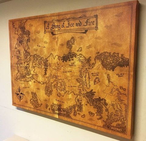 Cuadro Gigante Mapa Game of Thrones