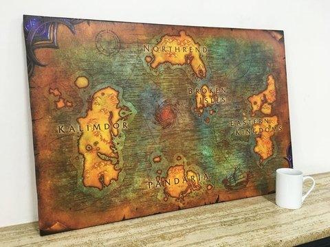 OFERTA - Cuadro Mapa World of Warcraft