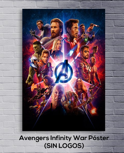 Cuadro Avengers: Infinity War Póster (SIN LOGOS)