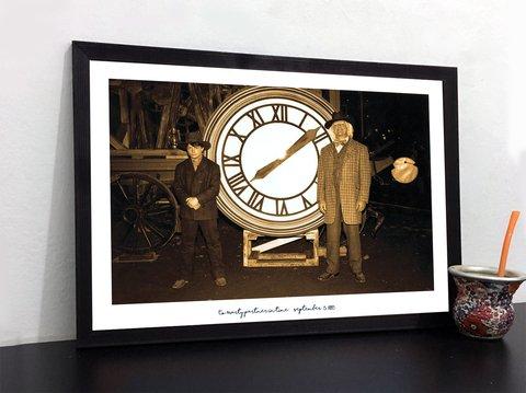 Cuadro Volver Al Futuro Foto Doc Y Marty En 1885 Con Frase