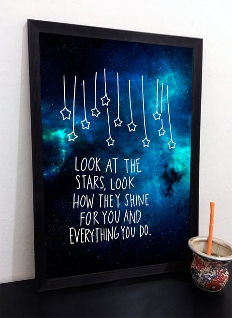 Cuadro Coldplay- Look at the stars, look how they shine for you
