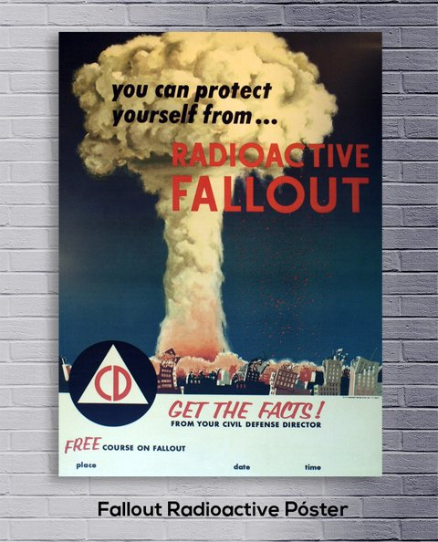 Cuadro Fallout Radioactive Póster - comprar online