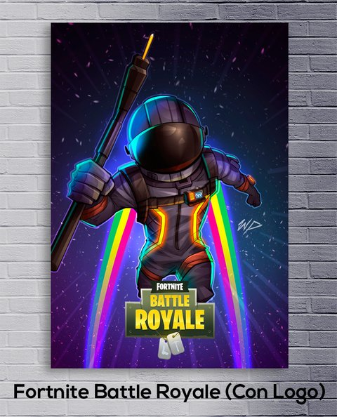 Cuadro Fortnite Battle Royale (Con Logo) - comprar online