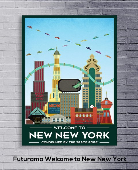 Cuadro Futurama Welcome to New New York - comprar online