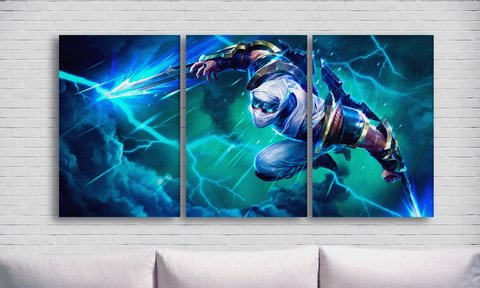 Cuadros - Tríptico Lightining zed League of Legends - comprar online