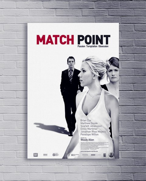 Cuadro Woody Allen Match Point - comprar online