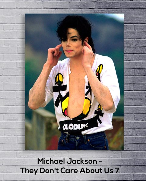 Cuadro Michael Jackson They Don't Care About Us 7 - comprar online