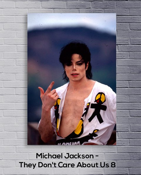 Cuadro Michael Jackson They Don't Care About Us 8 - comprar online