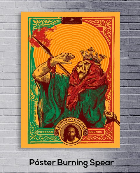 Cuadro Póster Burning Spear - comprar online
