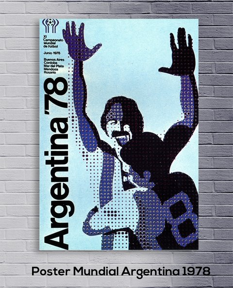 Cuadro Poster Mundial Argentina 1978 - comprar online