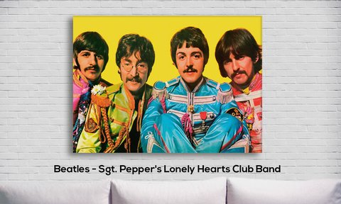 Cuadro The Beatles - Sgt. Pepper's Lonely Hearts Club Band - comprar online