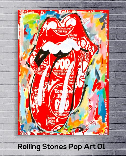 Cuadro The Rolling Stones Pop Art  01 - comprar online