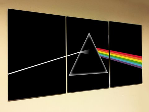 Cuadros - Tríptico Pink Floyd Dark Side of the Moon 02