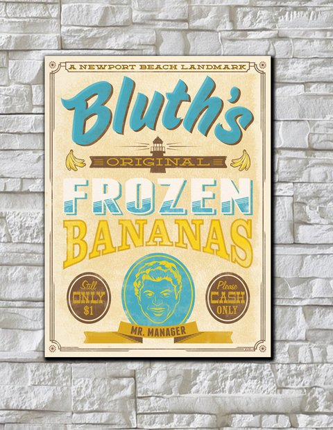 Cuadro Arrested Development Bluth's Frozen Bananas - comprar online