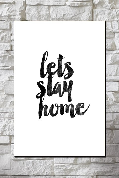Cuadro Frase Let's Stay Home - comprar online