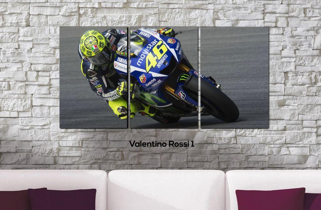 Cuadros - Tríptico Valentino Rossi 1 - Delorean Art