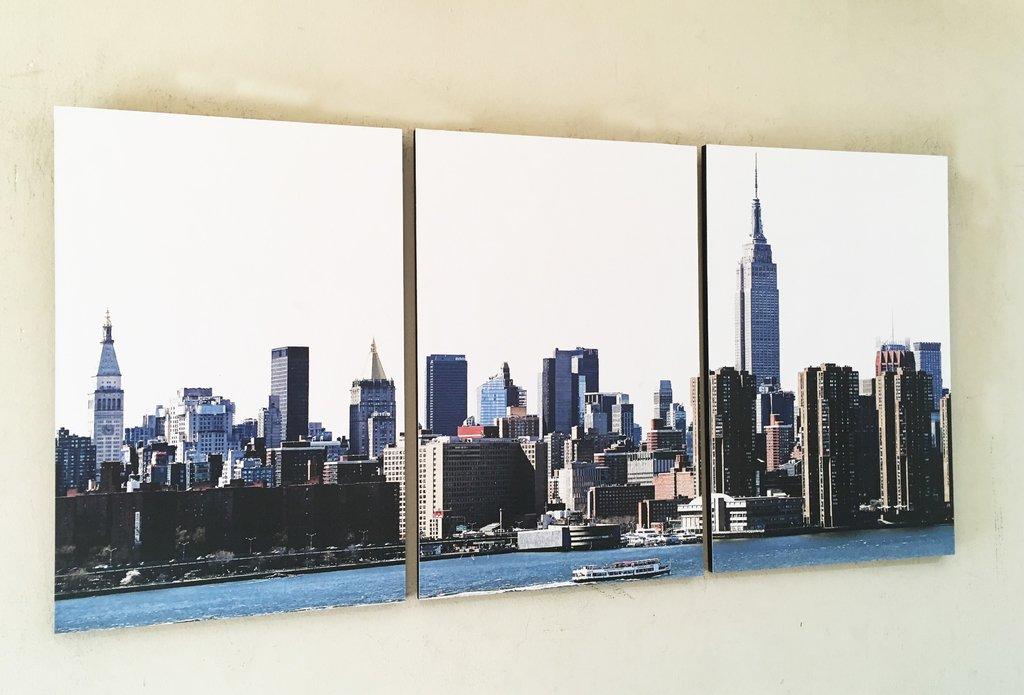 Cuadros - Tríptico New York de día - Delorean Art