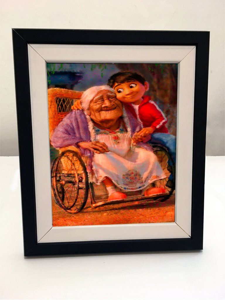 Cuadro con Marco - Coco Disney Abuela Pintura
