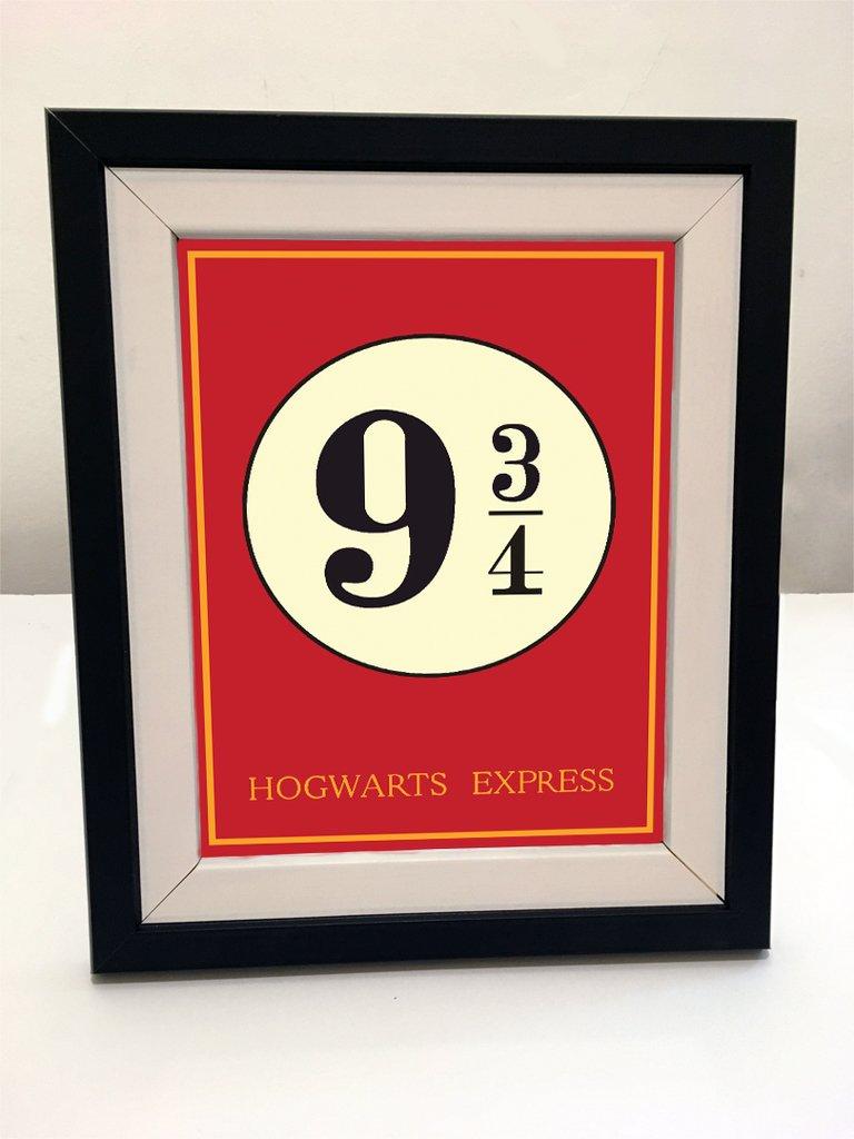 Cuadro con marco - Harry Potter Andén 9 3/4