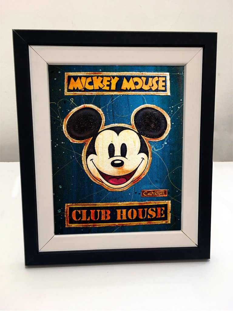 Cuadro con marco - Mickey 06 - Comprar en Delorean Art