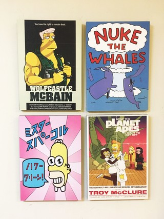 Combo 4 cuadros Los Simpsons Posters C