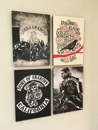 Combo 4 cuadros Sons of Anarchy - comprar online