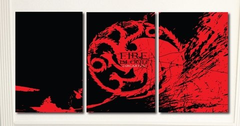 Cuadros - Tríptico Game of Thrones Targaryen - comprar online