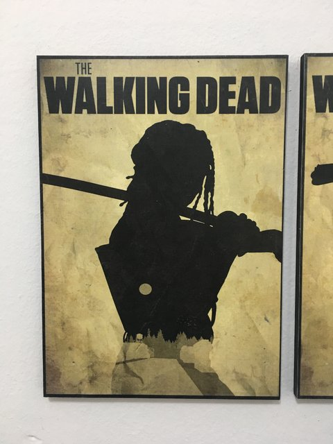 Cuadro The Walking Dead Michonne Silueta - comprar online