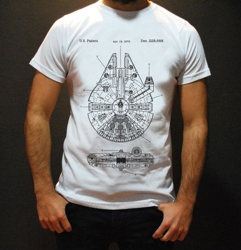 Remera Star Wars Halcón Milenario