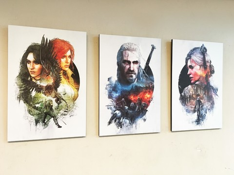 Combo 3 cuadros The Witcher B - comprar online