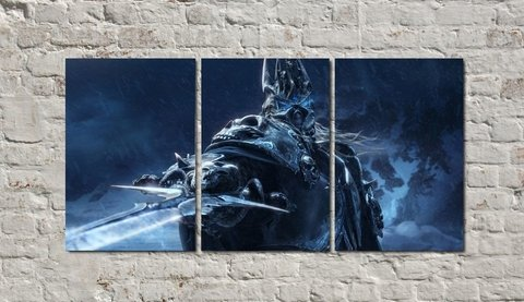 Cuadros - Tríptico World of Warcraft Arthas