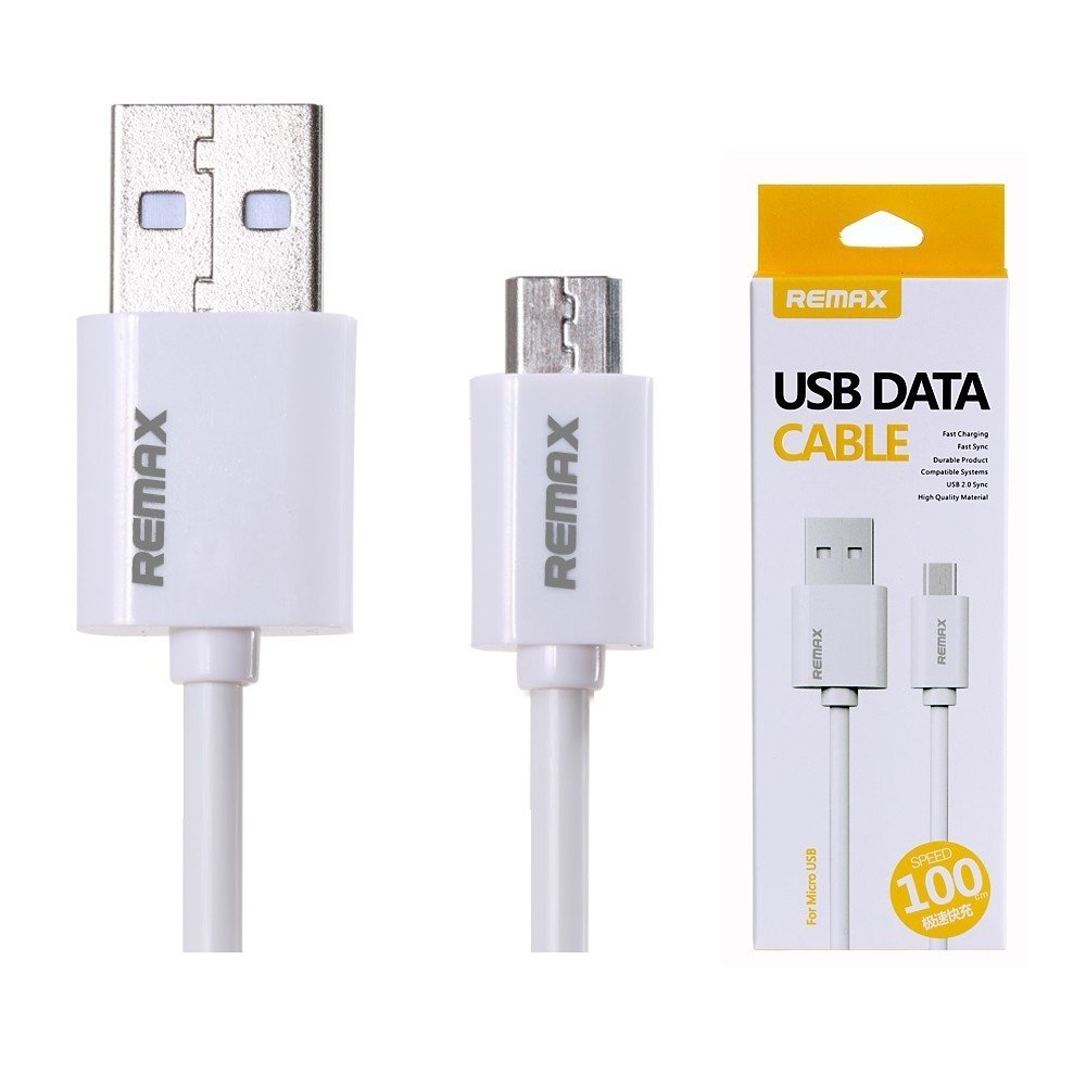 Cable Micro Usb Remax Rc-007m Blanco
