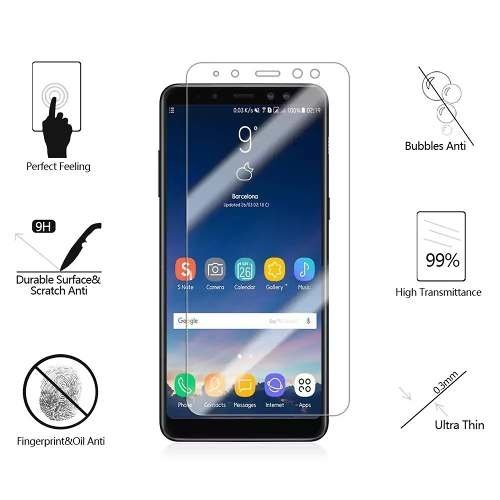 Film Glass Templado Samsung A3 A5 A7 2016/17 A8 A8 Plus 2018