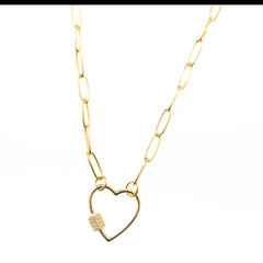 Collar corazon chapa - Vani Fashion