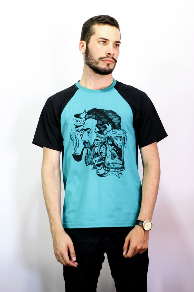 Camiseta Raglan - Sailor And The Smoking Pipe - 2nd Edition - Urban Zero - comprar online