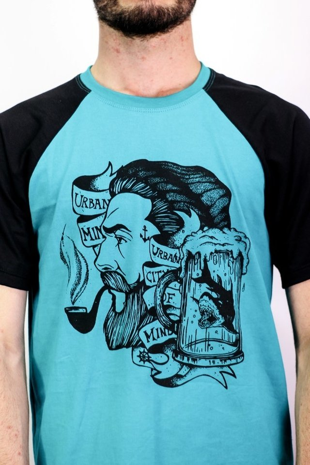Imagem do Camiseta Raglan - Sailor And The Smoking Pipe - 2nd Edition - Urban Zero