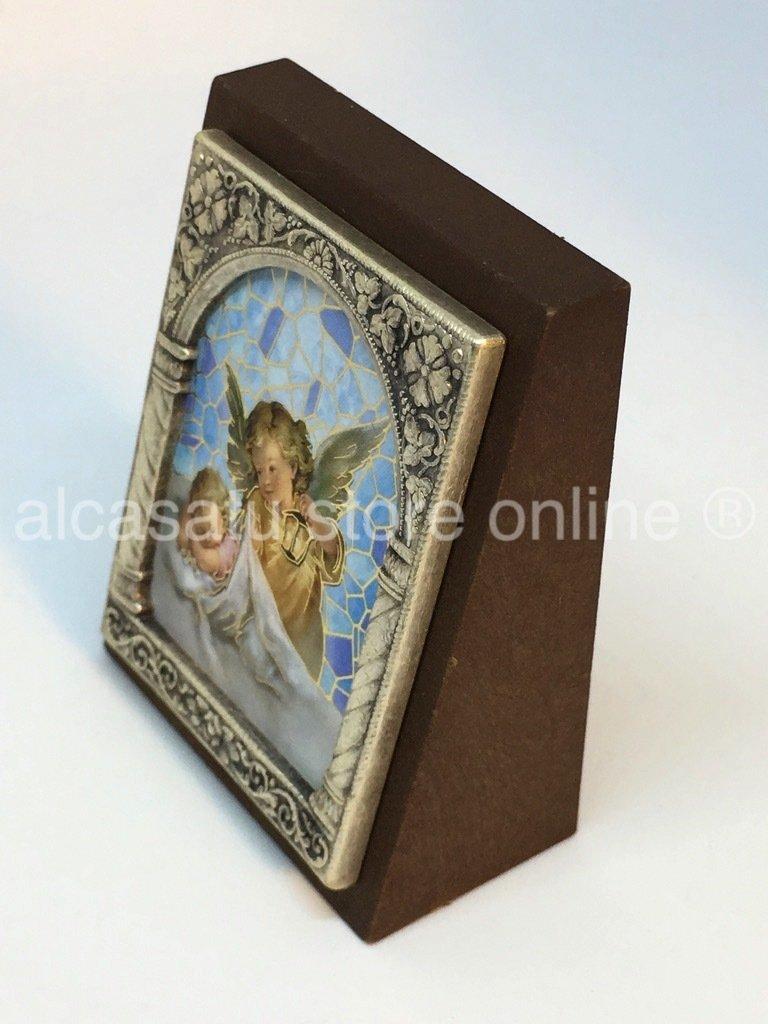 Cuadro angel de la guarda souvenir marco filigrana italia