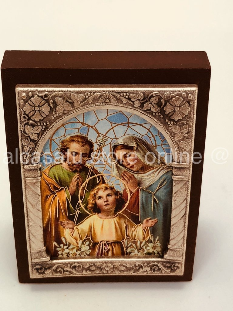 Cuadro Sagrada Familia Souvenir marco filigrana italiano