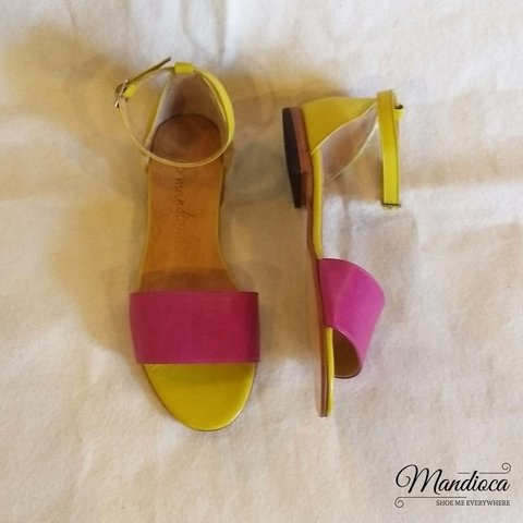 Shana Amarillo - Fucsia - Mandioca Shoes