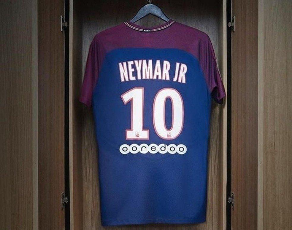 d7773f9e451ab ... Camisa Paris Saint Germain Neymar Jr Home 17 18 S Nº Torcedor Nike  Masculina ...