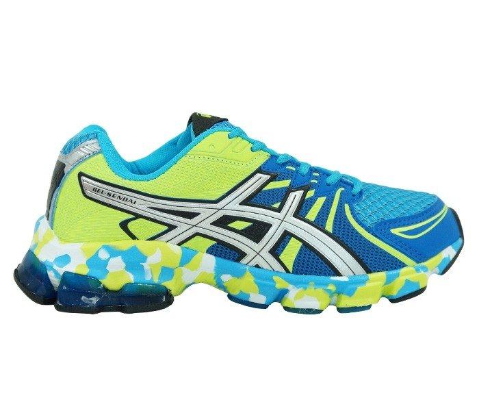 662186933 ... Tênis Asiscs Gel Sendai X Azul e Verde - comprar online ...