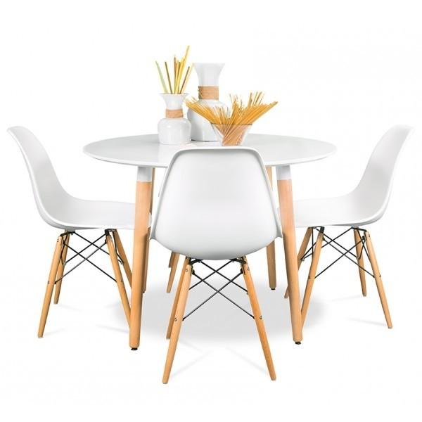Mesa halo eames 4 sillas eames emuebles for Sillas plasticas modernas