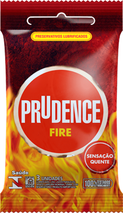 Preservativo Prudence Fire - c/ 3 unidades