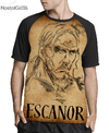 Camisa Raglan Escanor Procurado Estampa Total Frente