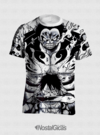 CAMISA  ONE PIECE LUFFY GEAR FOURTH ESTAMPA TOTAL FRENTE